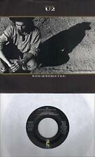 U2  With Or Without You / Walk To The Water (nonLP) 45 with PicSleeve