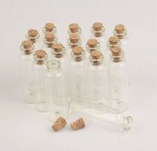 Mini Glass Cork Bottle Message Jars Vial New x2