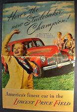 1939 Studebaker Champion Sales Brochure Folder Excellent Original 39