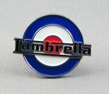 LAMBRETTA SCOOTER ROUNDEL WITH NAME RWB PIN BADGE NEW