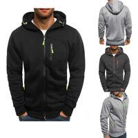 Jumper Men's Warm Hoodie Coat Sweatshirt Jacket Sweater Winter Hooded Outwear