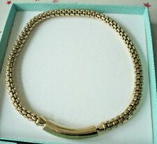 >PIERRE LANG< dickes rundes vergoldetes Magnet-Collier mit Anhänger insg. 47 cm