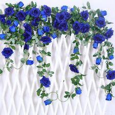 3pcs Artificial Fake Silk Rose Flower Ivy Vine Hanging Garland Wedding Decor