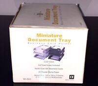 Business card holder file miniature document tray organizer beare design bd-9923