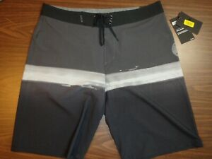 Hurley Men's Board Shorts - 20 inch Length - Gray/Black pattern - 00151