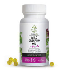 Oregano Oil capsules 60 Softgels 350mg. Anti-fungal, antibiotic candida bacteria