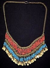Superbe collier terre cuite oriental Old necklace terracotta
