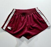 CANTERBURY Mens NRL Maroon Rugby Shorts Size 34