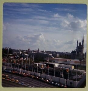 Vtg 1960s Ektachrome 35mm Color Slide Disneyland Disney Tomorrowland Speedway