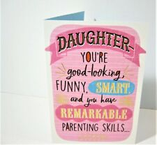 Glittery Humorous Mothers Day Card for DAUGHTER  Family Resemblance!