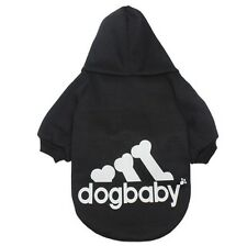 Hundebekleidung Hundeshirt Pullover Hoodie Chihuahua Kleinhund Dogbaby Schwarz