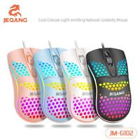 Wired Gaming Mice Mouse USB LED RGB Flowing Backlit Light PC Laptop Computer