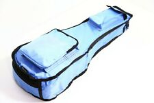 More details for 21 inch ukulele bag light blue 10mm padded deluxe waterproof kids soprano
