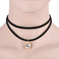 Black Retro Tattoo Choker Flower Boho Lace Gothic Punk Collar Necklace Pendant #