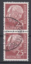 BRD 1954 Mi. Nr. 186 senkrechtes Paar gestempelt (18335)