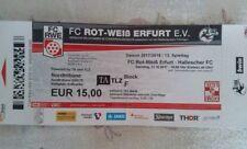 Ticket 2017/18 FC Rot Weiss Erfurt RWE Hallescher FC HFC Eintrittskarte Sammler