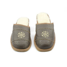 Womens Ladies Slippers Natural Leather Winter Warm Wool Kapcie CLEARANCE SALE!
