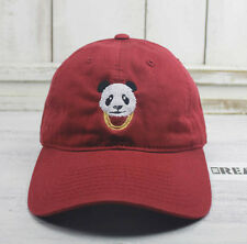 Panda Gold Chains Cardinal Red Baseball Cap Curved Bill Dad Hat 100% Cotton