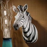 exotic zebra Sculpted Wall faux taxidermy Wall Trophy
