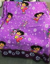 DORA THE EXPLORER flannel sheet twin flat