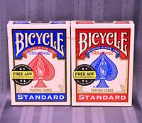 BICYCLE PLAYING CARDS 6 SIX Decks 3 BLUE 3 RED Standard 808 Index Poker Games