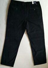 NWT Mens CHAPS RALPH LAUREN Black Corduroy Flat Front Straight Leg Pants