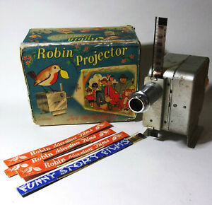 Vintage Robin Toy Projector film strips Boxed Working Childs Miniature Cinema