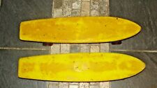 2 Vintage Roller Derby Skate Board Yellow No 76 Boards Banana Cool Lqqk