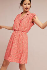 NWT Anthropologie Carlotta Ruched Shirtdress by Maeve size XS