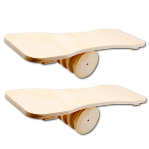 Indoor Balance Board Balance Trainer Balancierbrett Skateboard Holz mit Rolle