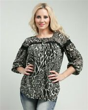 New Junior's Boutique Black Animal print lace tunic top size Small last one!