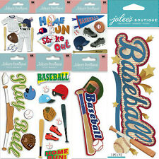 U Choose💋BASEBALL Scrapbook Stickers Jolee's Paper House Recollections Sports