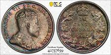 1907 10C CANADA (10 CENTS)  PCGS AU53 #42757639  NICE EYE APPEAL!   KM#10