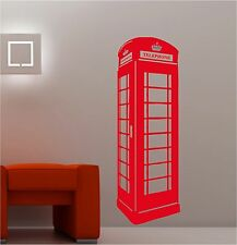LONDON PHONEBOX lounge childrens wall art sticker vinyl bedroom phone box