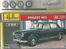 Heller 50161 - Peugeot 403 inkl. Leim und Farbe - 1:43