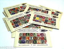 VTG 1920-1950 25pc WORLDWIDE INTERNATIONAL STAMPS COLLECTION IN DISPLAY ENVELOPE