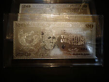 999.9 % SILVER PLATED $ 20 DOLLAR BILL*2009-MINT -COMES IN ACRYLIC,SLAB HOLDER