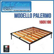 RETE A DOGHE LARGHE IN FAGGIO MATRIMONIALE 160X190cm FASCIA LARGA ORTOPEDICA