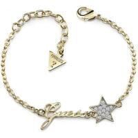 GUESS Bracciale donna Starlicious UBB84039-S acciaio pvd oro stella cristalli