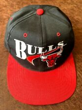 Vintage Chicago BULLS Basketball NBA Youth Cap Baseball Hat Black & Red