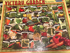 "White Mountain 1000 Pc Puzzle Victory Garden Kate Ward Thacker 24""X30"" Complete"
