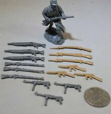 Toy Soldiers of San Diego TSSD WWII US and German Weapons Set - Set of 15 Gray