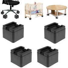 3 Inch Bed Risers 4pcs With Cushioning Pad Durable ABS Armchairs U Shape