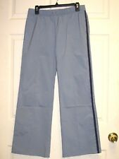 EXPRESS JEANS Stretch Women's Casual Pants Gray With Blue Stripes Size L Large