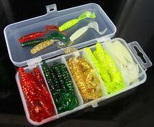 50pcs Lot Plastic Fishing Lures Box Soft bait tail spot maggots Soft Lure Baits