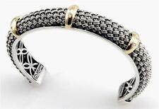 Philip Andre 18k & Sterling Diamond Cuff Bracelet