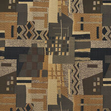 C680 Brown Black Grey Gold Large Scale Southwest Upholstery Fabric By The Yard