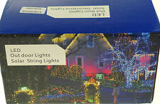 200  x 4 COLOUR STRING LIGHTS FAIRY CHRISTMAS SOLAR POWERED LED LIGHTS XMAS TREE