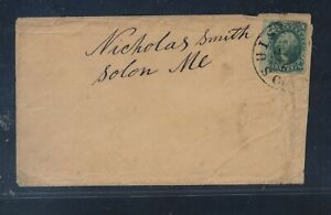 US  10 cent  early  stamps  on cover to   Maine ??