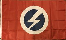 British Union of Fascists Flag 3x5 BUF Oswald Mosley Red Thunderbolt